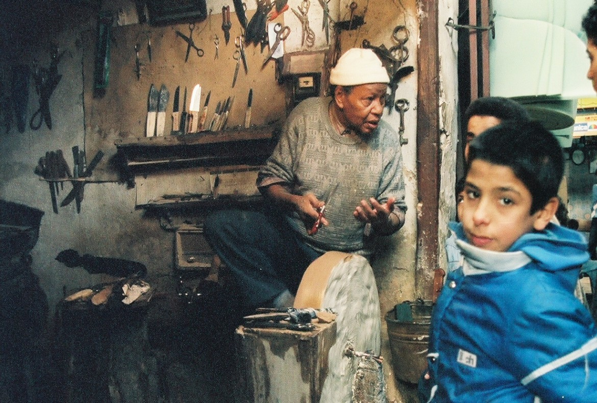 Knife Sharpener in Morocco