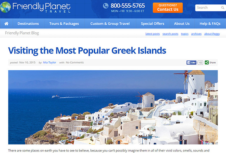 Friendly Planet Travel - Greek Islands by Mia Taylor